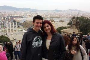 Incentive Trip to Barcelona Spain, I took m son Zach as my guest for his graduation gift.