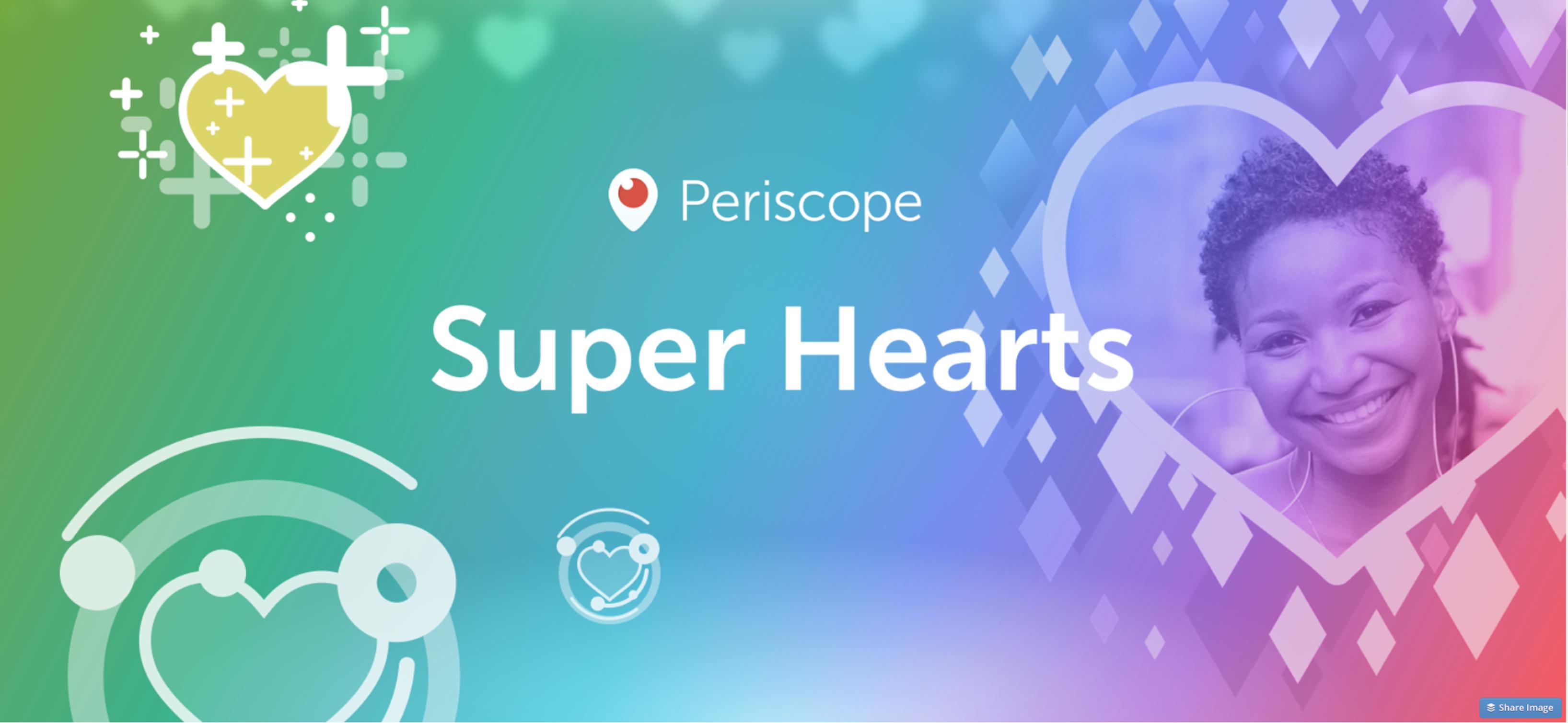 Periscope Super Hearts Logo on Vicki Fitch.com